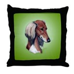 Saluki Throw Pillow