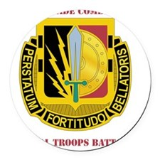 2BCT-SPECIAL TROOPS WITH TEXT Round Car Magnet