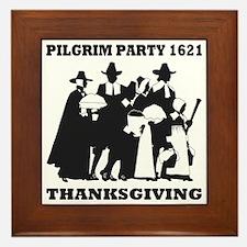 Pilgrim Party 1621 Thanksgving Framed Tile