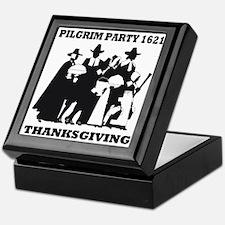 Pilgrim Party 1621 Thanksgving Keepsake Box