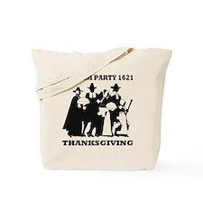 Pilgrim Party 1621 Thanksgving Tote Bag