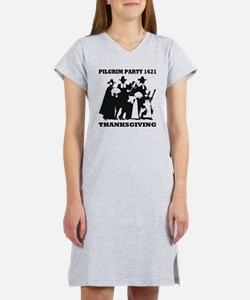 Pilgrim Party 1621 Thanksgving Women's Nightshirt
