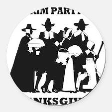 Pilgrim Party 1621 Thanksgving Round Car Magnet