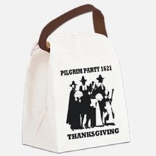 Pilgrim Party 1621 Thanksgving Canvas Lunch Bag