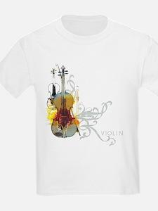 Violin Art 01 Kids T-Shirt