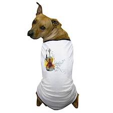 Violin Art 01 Dog T-Shirt