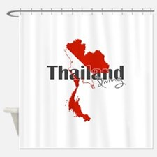 Thailand Diver Shower Curtain