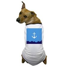 Anchor wave blue Dog T-Shirt