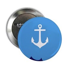 "Anchor wave blue 2.25"" Button"