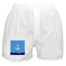 Anchor wave blue Boxer Shorts