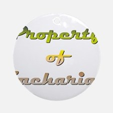 Property Of Zachariah Male Round Ornament