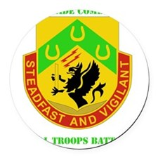 3RD BCT-SPECIAL TROOPS WITH TEXT Round Car Magnet