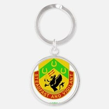 3RD BCT-SPECIAL TROOPS WITH TEXT Round Keychain