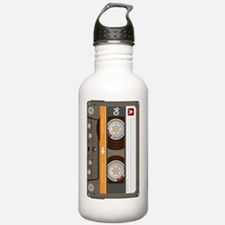cassette tape vertical Water Bottle
