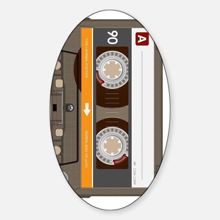 cassette tape vertical Decal