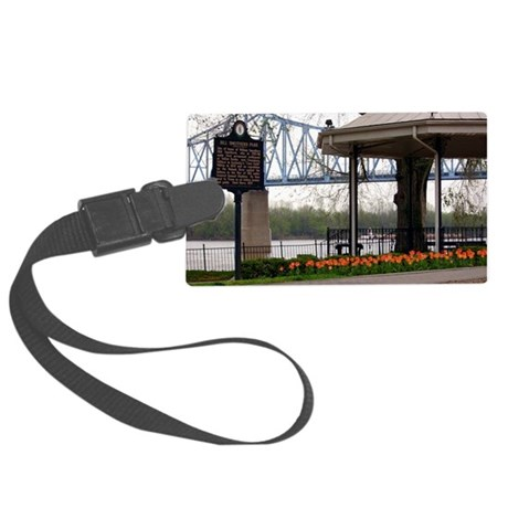 Owensboro KY Note Card Smothers Large Luggage Tag