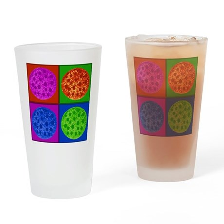 PizzaPopArt Drinking Glass