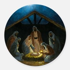 The Nativity Round Car Magnet