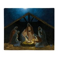 The Nativity Throw Blanket