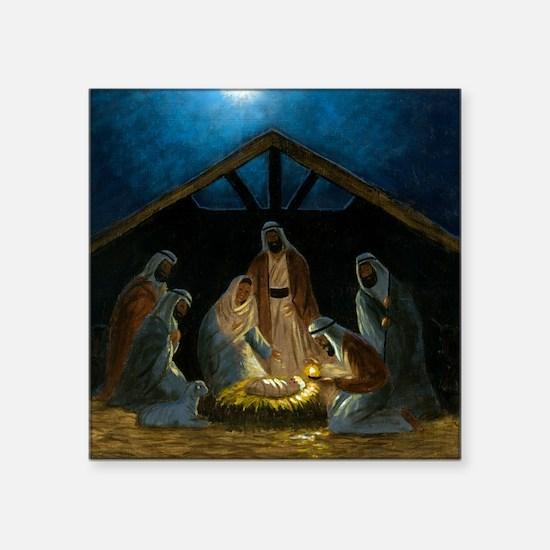"""The Nativity Square Sticker 3"""" x 3"""""""