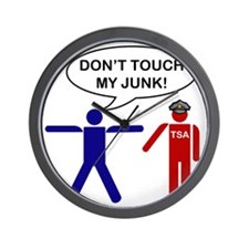 dont touch my junk Wall Clock