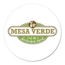 Mesa Verde National Park Round Car Magnet
