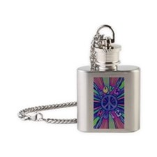 Blue love441_iphone_case Flask Necklace