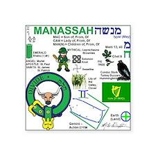 "Manassah Square Sticker 3"" x 3"""