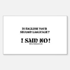 Second Language Rectangle Decal