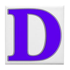 Letter 'D' Tile Coaster