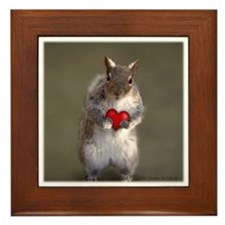 Cute Valentine's Squirrel Framed Tile