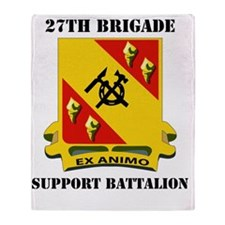 27 SUPPORT BATTALION WITH TEXT Throw Blanket