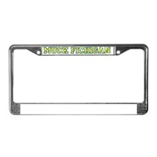 MuckFichigan_yel_blue License Plate Frame