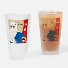 World Famous Bulldog Brand Tea Drinking Glass