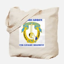 2-7 CAV RGT WITH TEXT Tote Bag