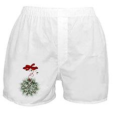 Christmas Misletoe Boxer Shorts