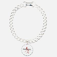 Philippines Diver Charm Bracelet, One Charm