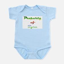 Property Of Tyra Female Baby Light Bodysuit