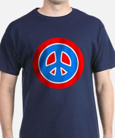 Peace Red Blue T-Shirt