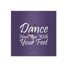 "funwithfeetsq Square Sticker 3"" x 3"""