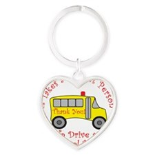 bus driver2 Heart Keychain