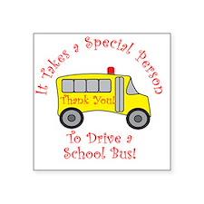 """bus driver2 Square Sticker 3"""" x 3"""""""