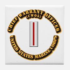 USMC - CW5 Tile Coaster