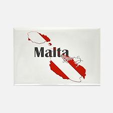 Malta Diving Rectangle Magnet