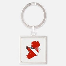 Ireland Diving Square Keychain