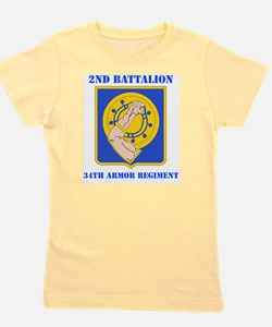 2-34th ARMOR RGT WITH TEXT Girl's Tee