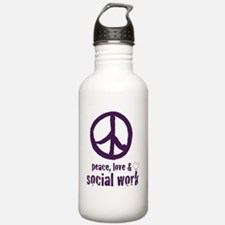 PeaceSign12x12 Water Bottle
