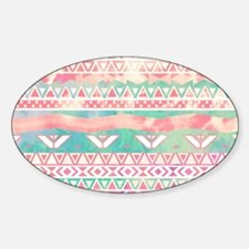 Girly Aztec Pattern Pink Turquoise  Decal