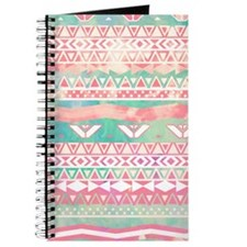 Girly Aztec Pattern Pink Turquoise Waterco Journal