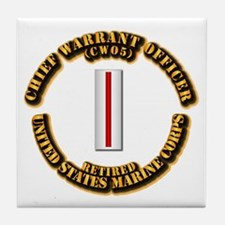 USMC - CW5 - Retired Tile Coaster